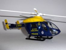 McDonnell Douglas MD-902 Explorer Wiltshire Police / Air Ambulance  Helicopter Diecast Model Scale Approx. 1:60 e